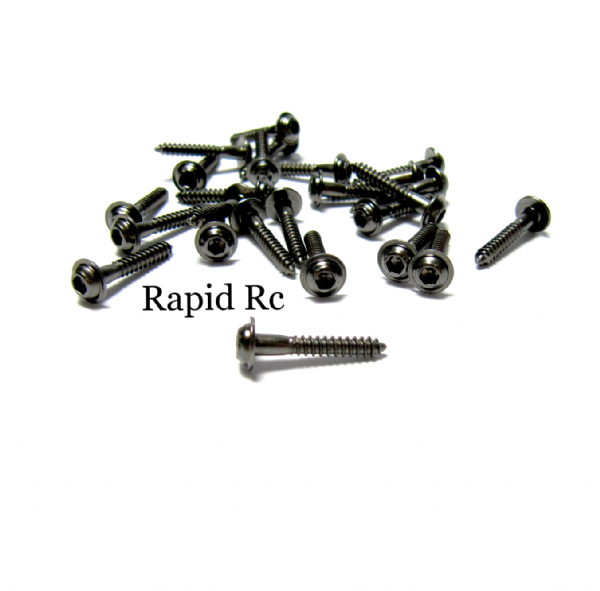 Kuza Socket Head W/shoulder  Servo Mounting Screws 2.3mm x 15mm Black